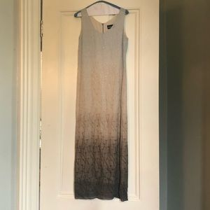 Vivian Shyu Grey Ombré Embroidered Maxi Dress - 8